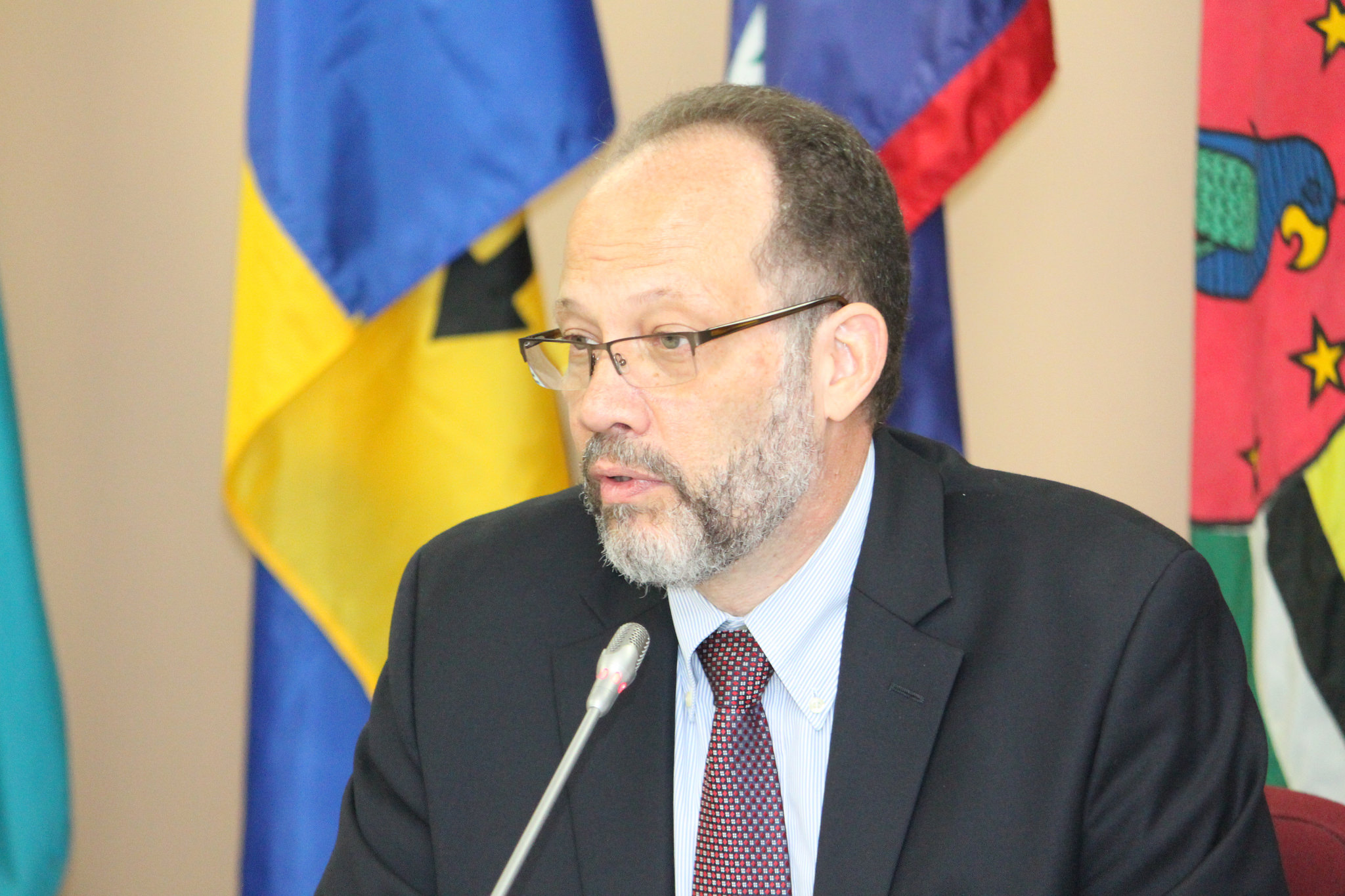 CARICOM Secretary-General, Ambassador Irwin LaRocque delivering welcome remarks