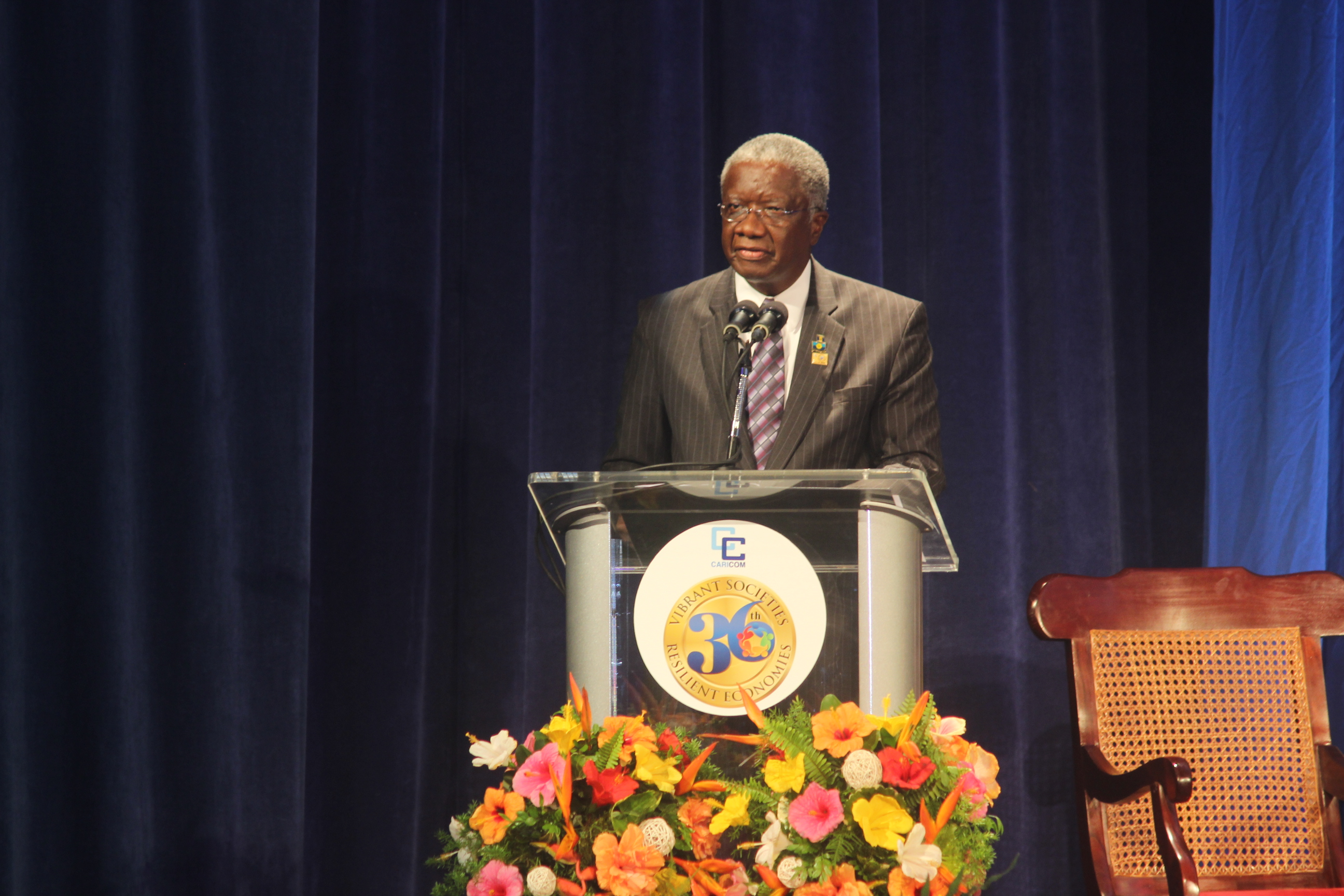 Chairman of CARICOM the Rt. Hon. Freundel Stuart