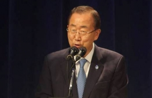 United Nations Secretary-General, Ban Ki-Moon addresses the opening ceremony of the 36th Meeting of the Conference of Heads of Government of CARICOM