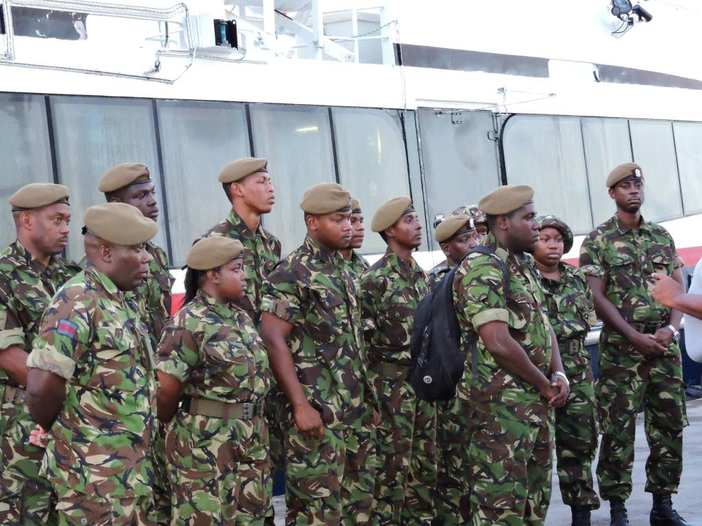 Members of the Monsterrat Defence Force