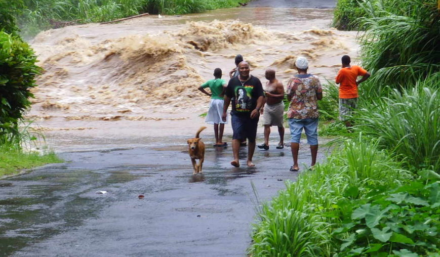 File photo: Flooding in Dominica- Tropical Storm Erika