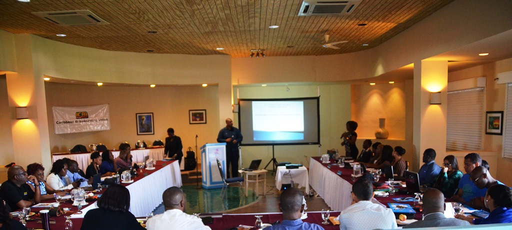 Participants of the training workshop on responsible coverage of  children's Issues.
