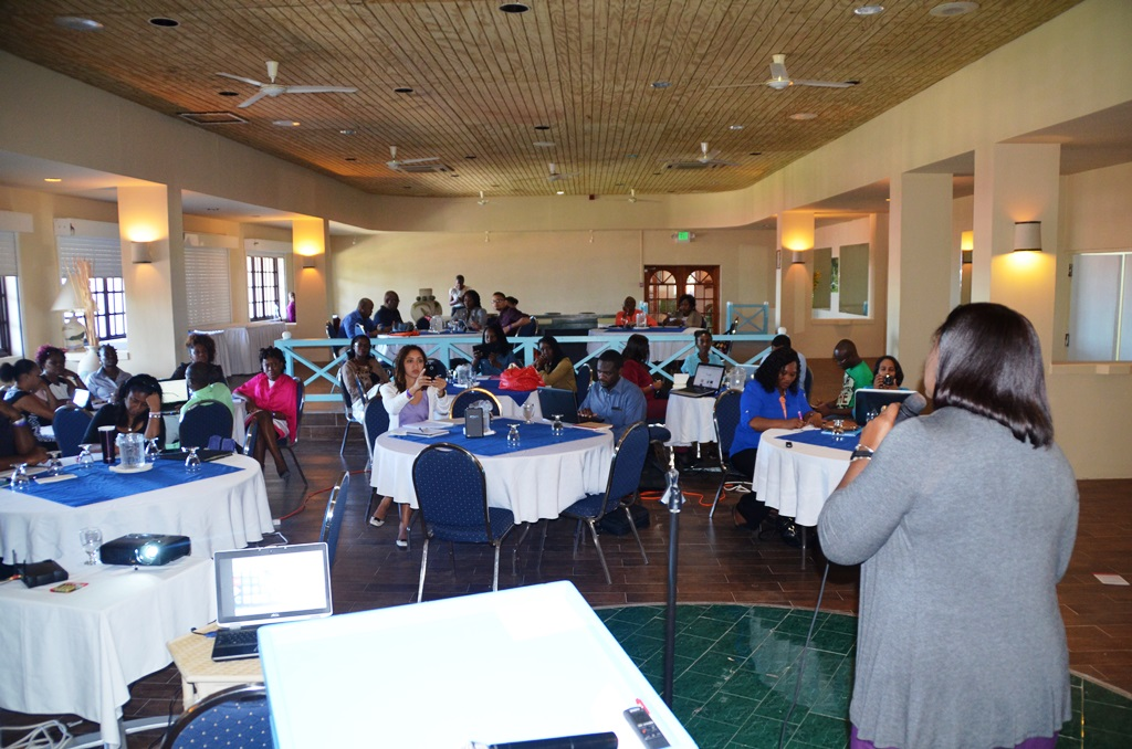 Participants during the working groups session on day two of the training workshop
