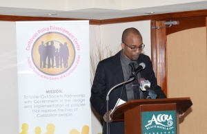 Carlos Wharton at Meeting of CARIFORUM Civil Society Organisations Preparatory to the Second Meeting of the CARIFORUM-EU Consultative Committee 16-17 February 2016, Barbados