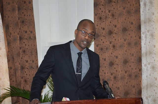 Director, EU Economic Partnership Agreement (EPA) Implementation Unit, Carlos Wharton at the custom and trade facilitation capacity building workshop