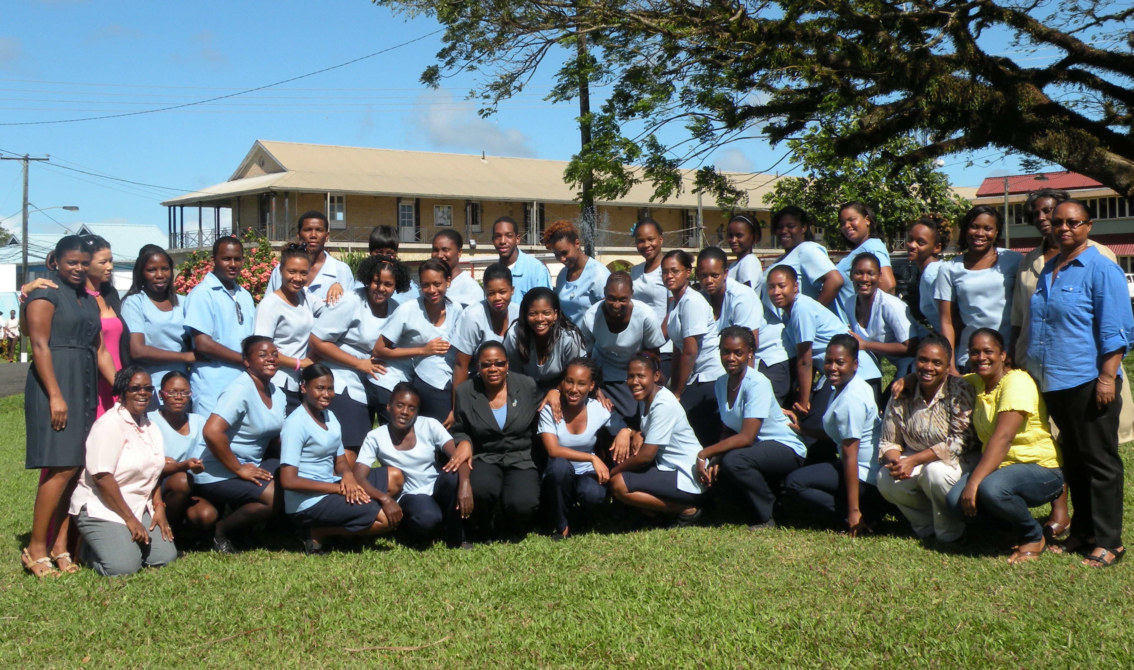 Students of Sir Arthur Lewis Community College (SALCC)