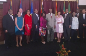 Presidents and Governors-General with Baroness Patricia Scotland during the meeting