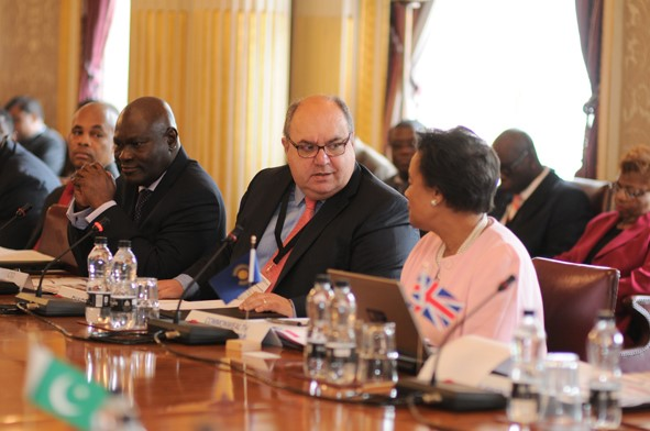 CTO's Secretary-General Shola Taylor, the Hon Dr Emmanuel Mallia, Minister for Competitiveness and Digital, Maritime and Services Economy, and Chairman of this year's Commonwealth ICT Ministers Forum, and Commonwealth Secretary-General the