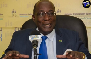 Minister of Education, Youth and Information, Senator Ruel Reid, addresses a recent JIS Think Tank. (Photo via JIS)