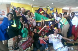 Caribbean Youth pose for a fun photo during the recent Caribbean Youth Leader's Summit