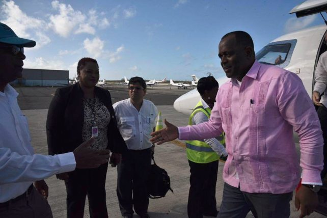 Prime Minister Skerrit, who headed a CARICOM delegation as he arrived in The Bahamas on Wednesday