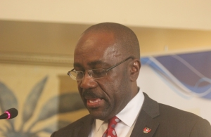 Antigua and Barbuda's Minister of Trade, Industry, Sports and Culture Chet Greene