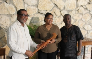 (l-r) Ambassador Anthony Liverpool, Dr. Hillary Browne, Sydney Bartley.