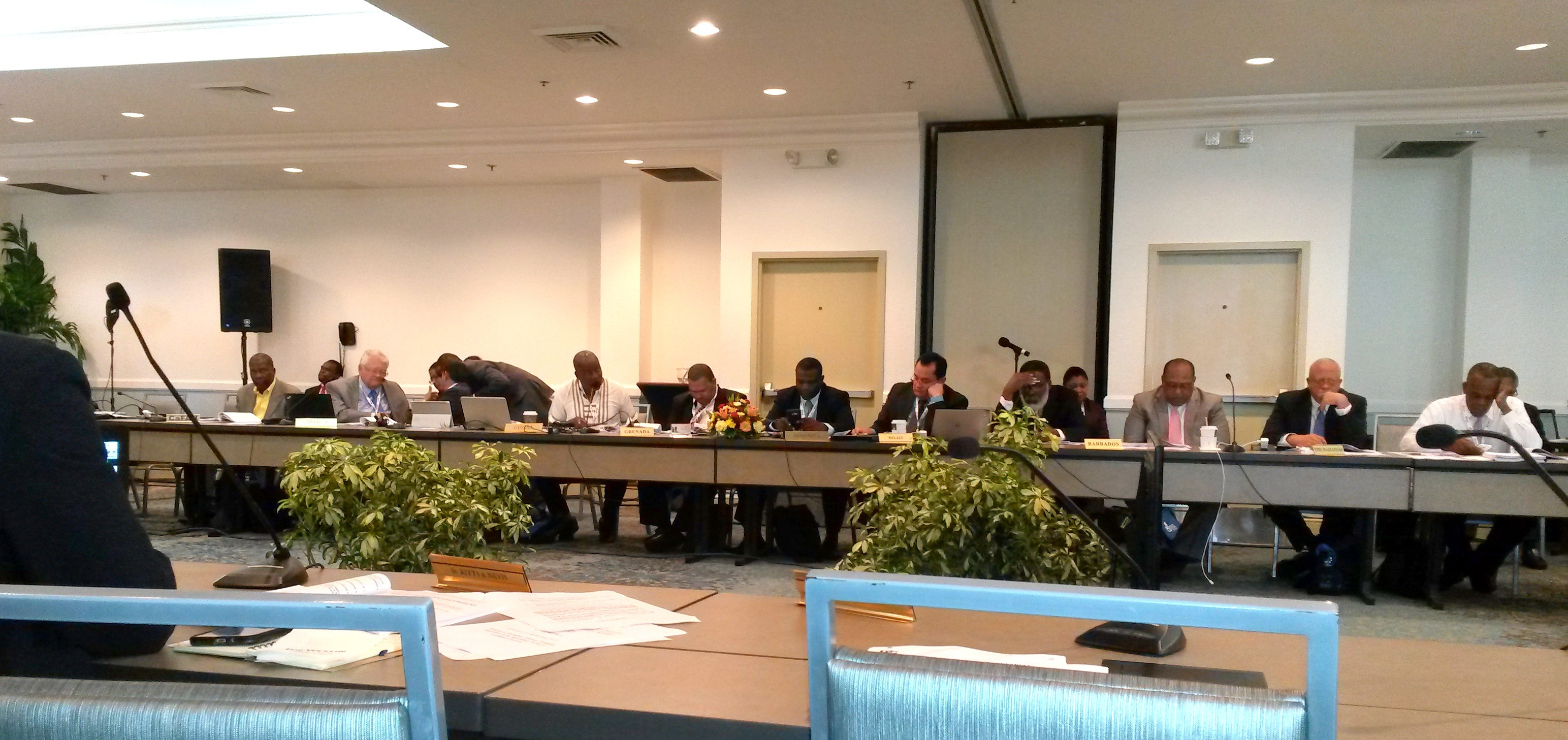 Delegates at the Special COTED on Agriculture in the Cayman Islands on Friday