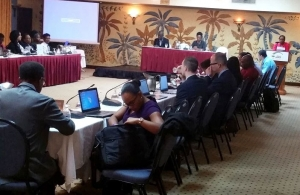The workshop in session in Antigua and Barbuda
