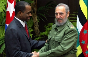 Flashback: CARICOM Chairman, Prime Minister Hon. Roosevelt Skerrit of Dominica greets then President of Cuba H.E. Fidel Castro