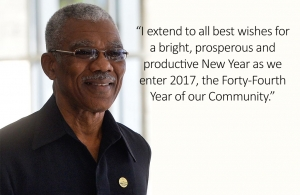 Chairman  of The Caribbean Community (CARICOM) His Excellency David Granger President of The Co-operative Republic of Guyana
