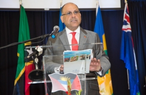 Asot Michael, Antigua and Barbuda's Minister of Tourism, Economic Development, Investment and Energy (Photo via Caribbean News Service)