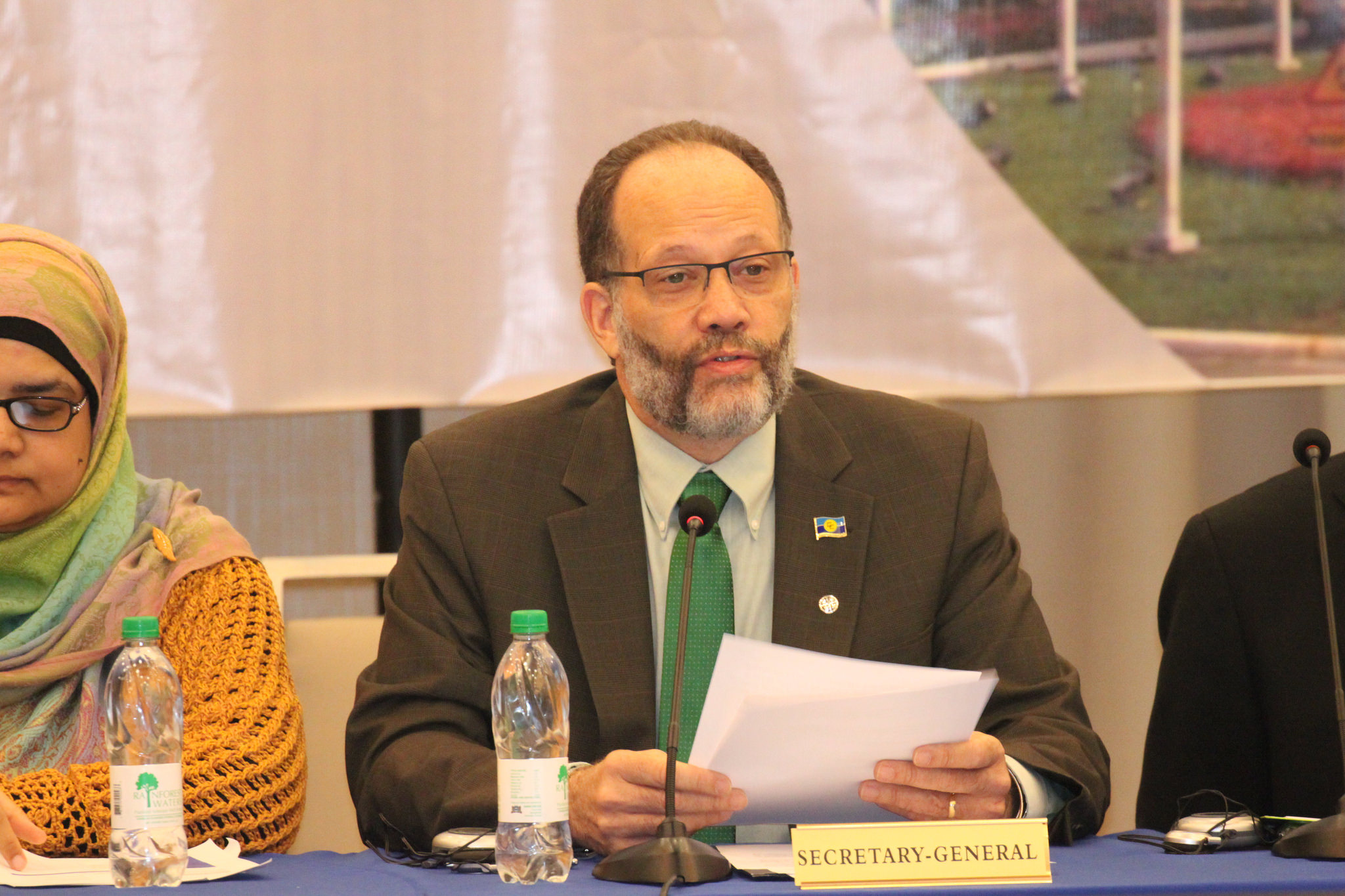 CARICOM Secretary-General, Ambassador Irwin LaRocque addresses the opening of the Meeting