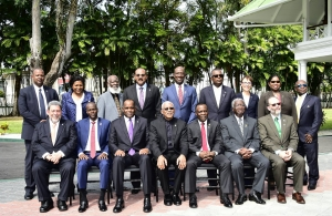 Heads of Government and Heads of Delegation at the 28th CARICOM Inter-Sessional Meeting, Georgetown Guyana, 16-17 February 2017.