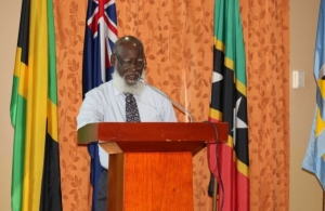 Belize's Foreign Minister, the Hon. Wilfred Elrington delivering opening remarks at the meeting.