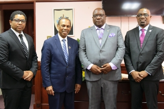 Prime Minister Harris and regional health leaders discuss critical issues relating to the HIV/AIDS Agenda