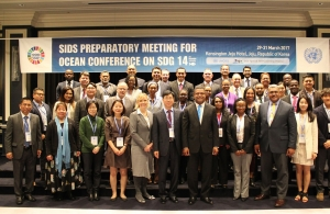 Representatives at SIDS Preparatory Meeting ahead of the UN Oceans Conference