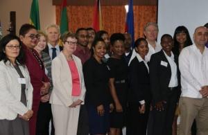 Representatives of the CARICOM Secretariat and senior environment officials at the meeting