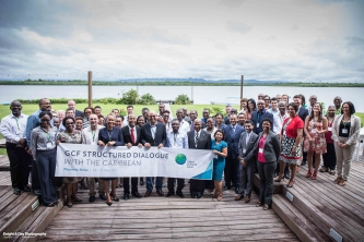 Group Photo of Participants at the GCF Structured Dialogue with the Caribbean
