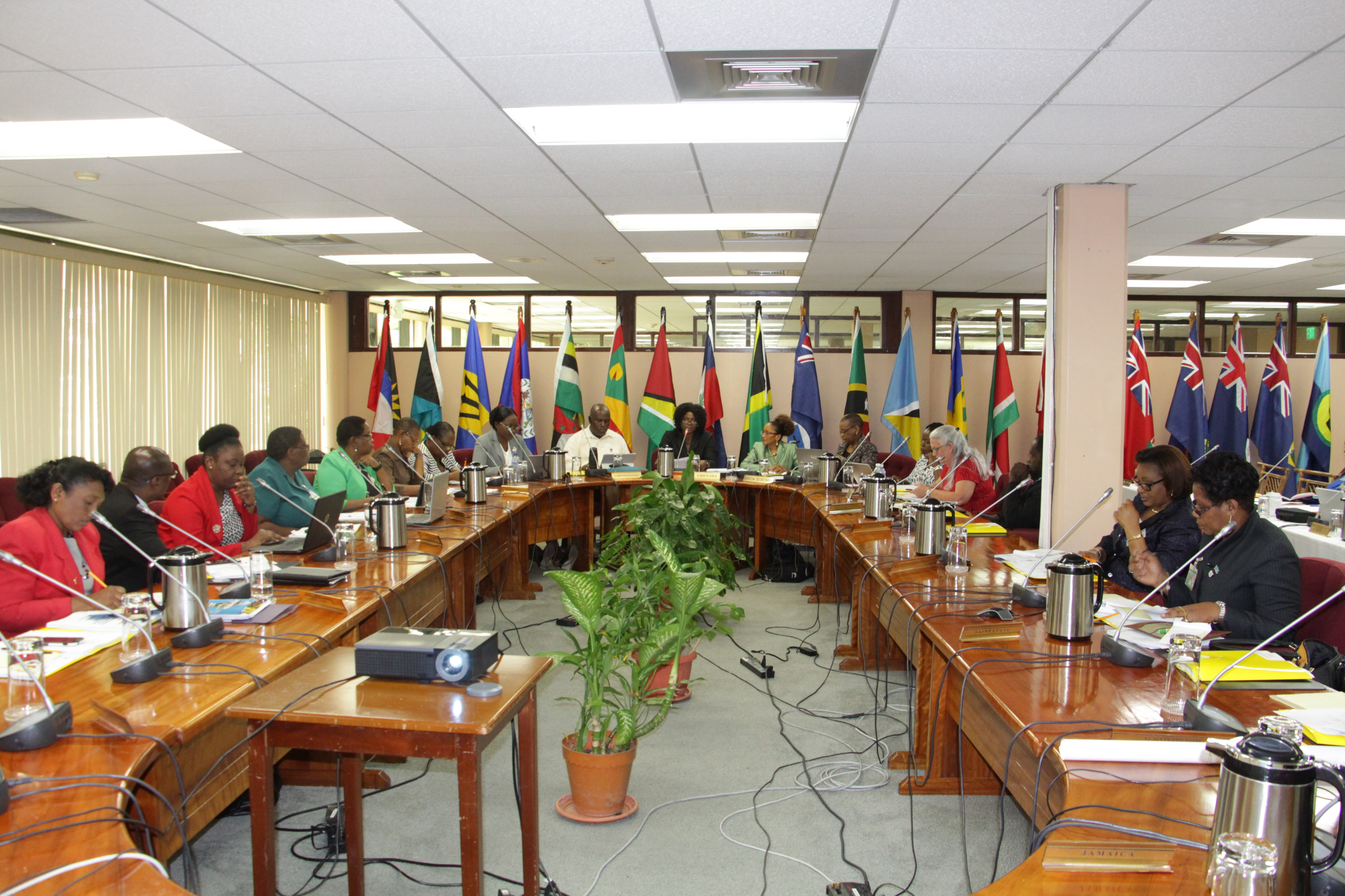 Delegates at the Forty-Fourth General Meeting of the Regional Nursing Body being at the the CARICOM Secretariat in Georgetown, Guyana