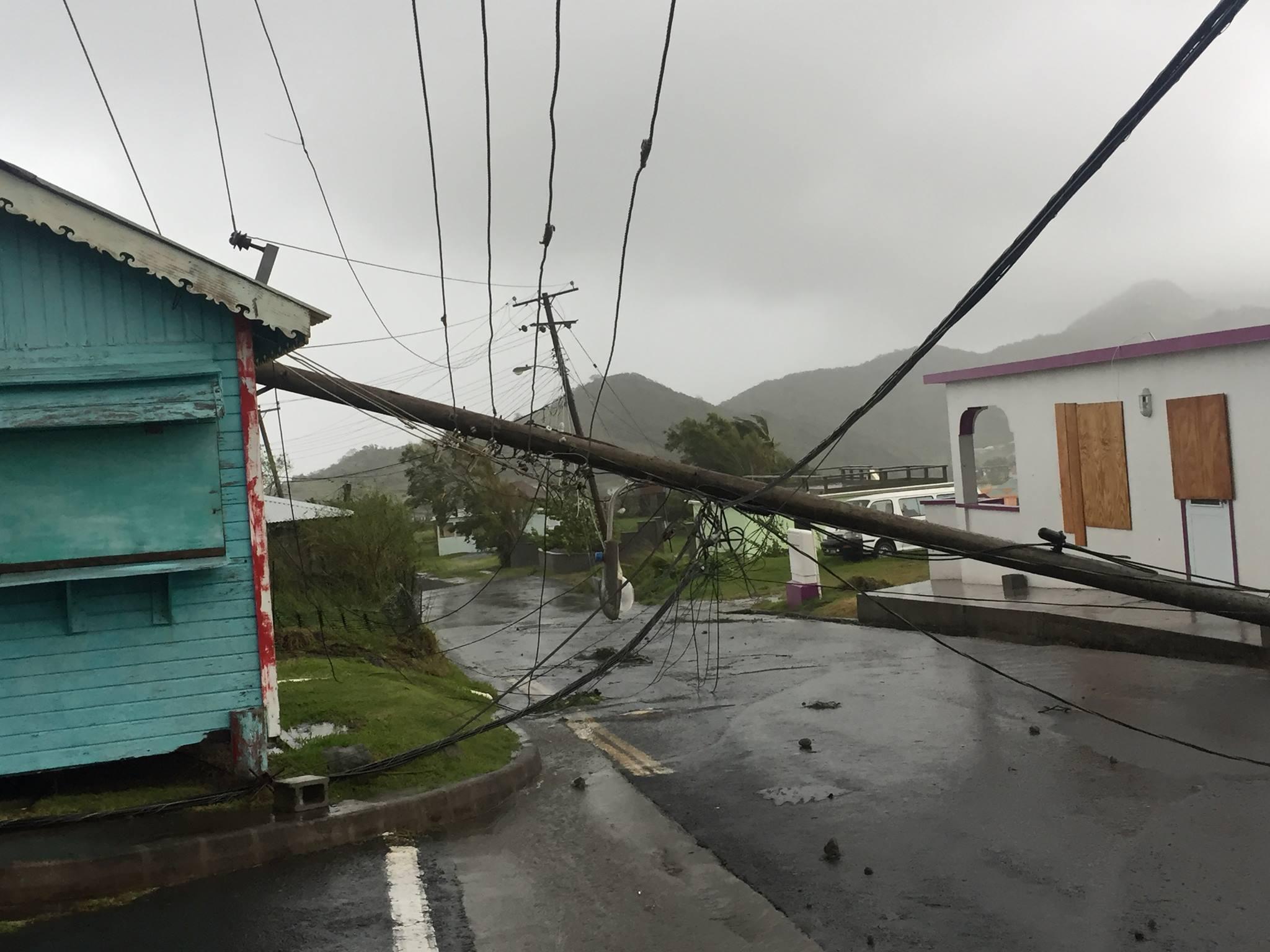 Montserrat following the passage of Hurricane Maria