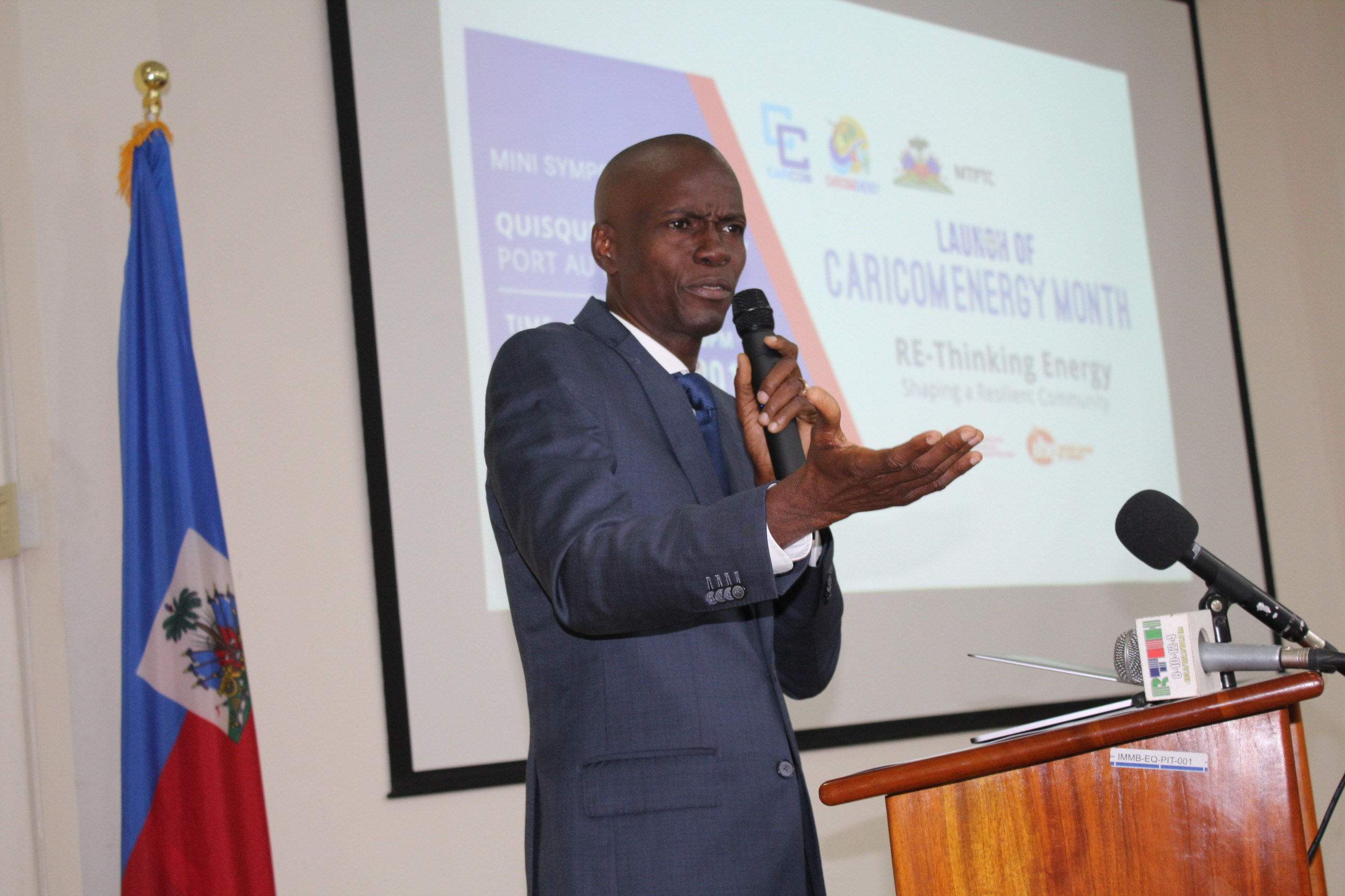 President of Haiti, His Excellency Jovenel Moise addresses the Launch