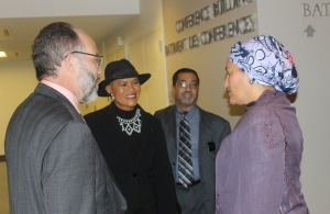 CARICOM SG  Ambassador Irwin LaRocque (l) chats with UN Deputy Secretary-General Amina Mohammed