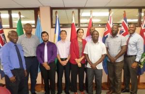 CARICOM Deputy Secretary General with CARICOM Secretariat Housing App Team