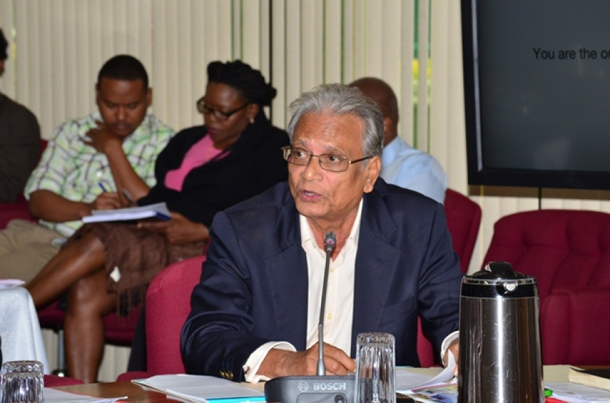 Minister of Education Dr. Rupert Roopnaraine addressing the opening of the Twenty-Seventh Meeting of the Council for Human and Social Development (Photo credit: GINA)