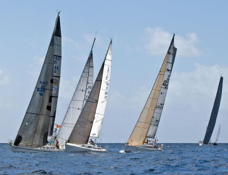 Yachts asail in the Caribbean