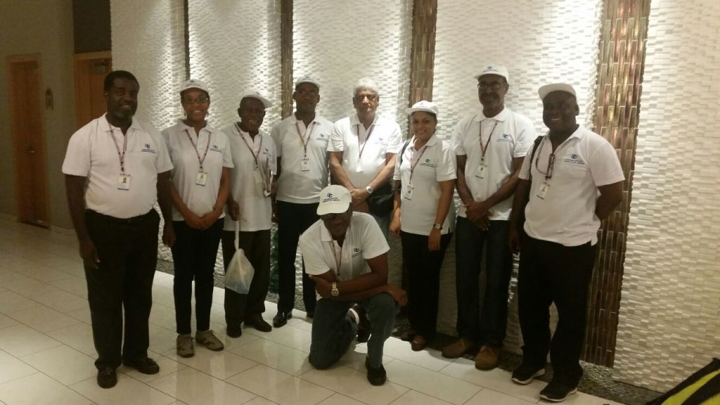 The CARICOM Electoral Observer Mission to Haiti. Fourth from right is Dr. Steve Surujbally,Chairman of the Guyana Elections Commission (Chief of Mission)