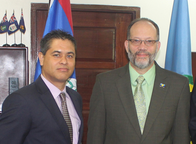 The Plenipotentiary Representative of Belize to the Caribbean Community (CARICOM), His Excellency Francisco Daniel Gutierrez presented his Credentials to the Secretary-General of CARICOM, Ambassador Irwin LaRocque, on Wednesday, 13 January 2016 at 8: