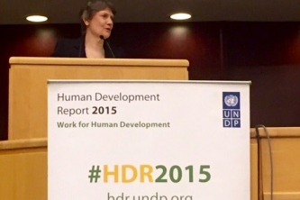 Speech at the launch of the 2015 Human Development Report