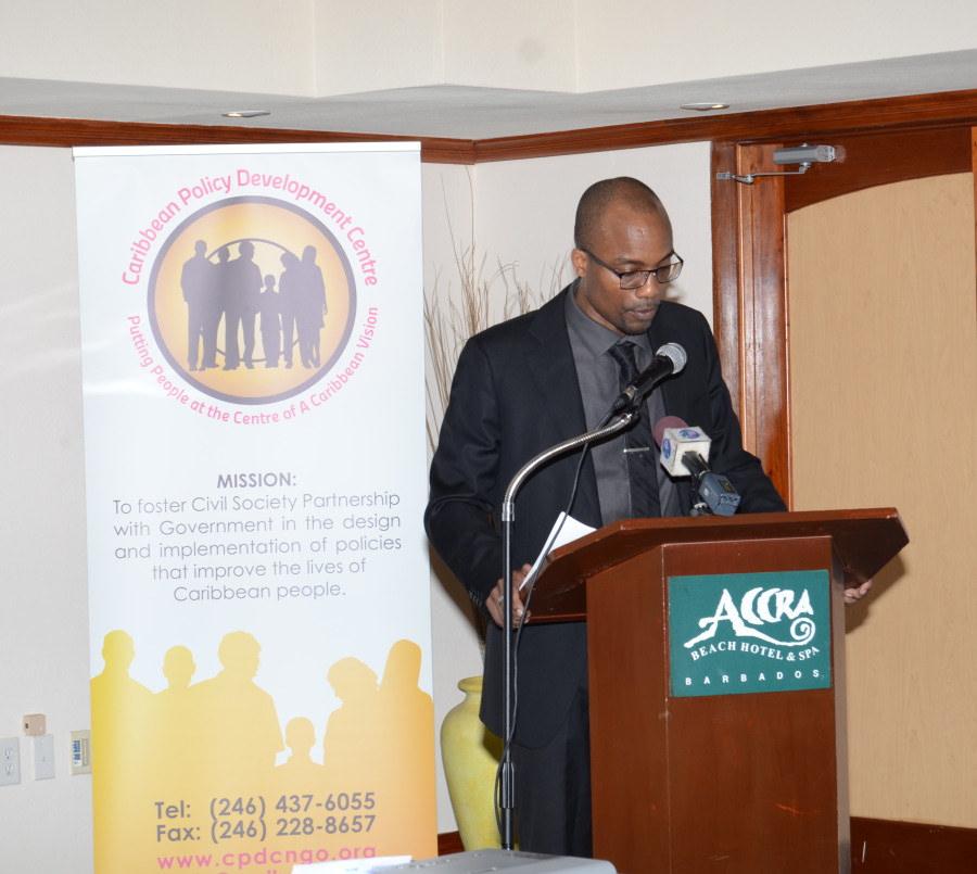 Carlos Wharton at Meeting of CARIFORUM Civil Society Organisations Preparatory to the Second Meeting of the CARIFORUM-EU Consultative Committee 16-17 February 2016, Barbados
