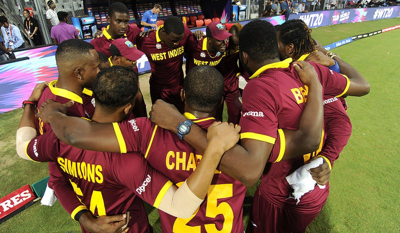 West Indies men will follow the women on the field of play for the World T20 Final against England.