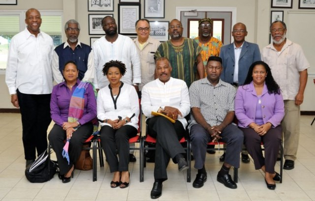 A group shot of the CARICOM Reparations Commission when it met at UWI Mona in 2014