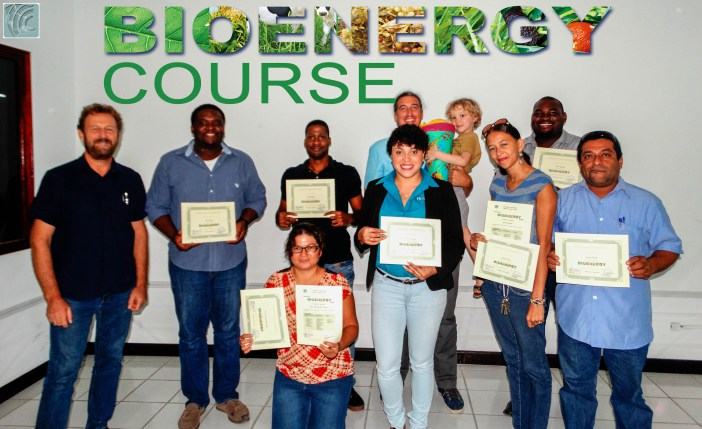 Participants at the conclusion of the two-week training programme in Belize.