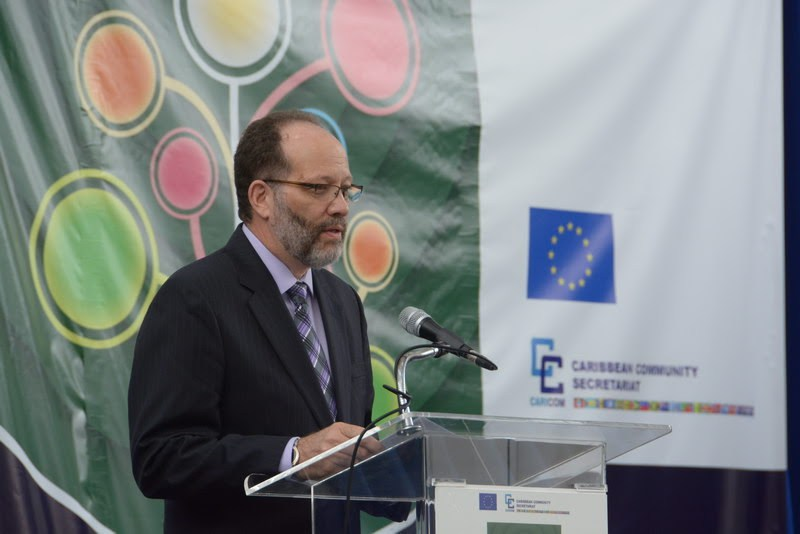 CARICOM Secretary-General, Ambassador Irwin LaRocque addresses the opening of the EU-Caribbean Sustainable Energy Conference