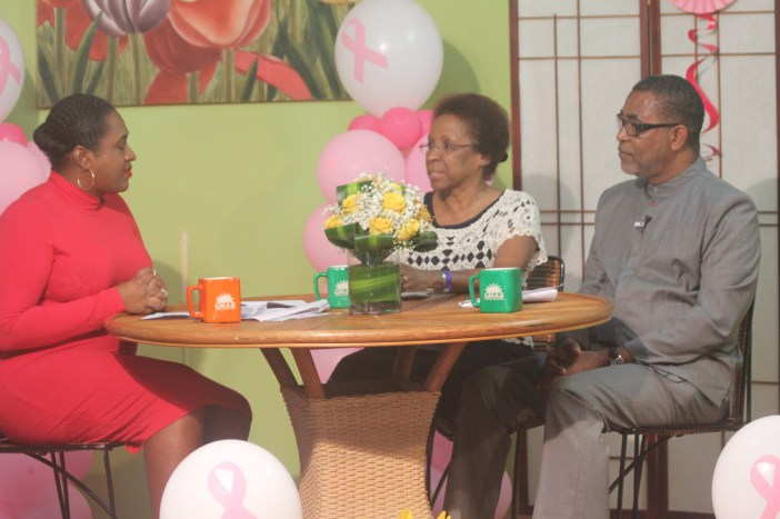 Ms Desiree Field-Ridley, CARICOM Secretariat and Ambassador Anthony Liverpool being interviewed about the Services Sector Symposium on Good Morning Antigua and Barbuda, TV Show on ABS TV, Monday.