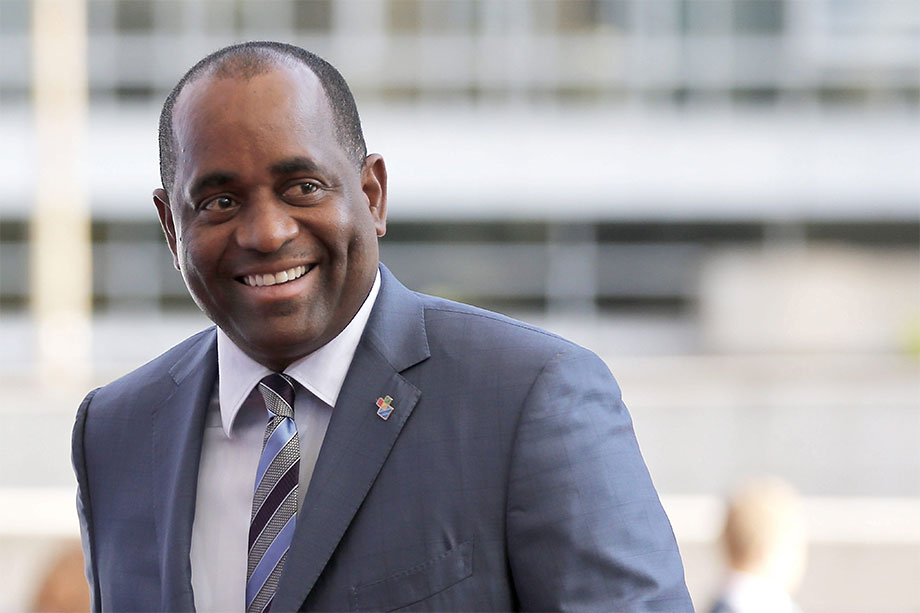 HONOURABLE ROOSEVELT SKERRIT PRIME MINISTER OF DOMINICA