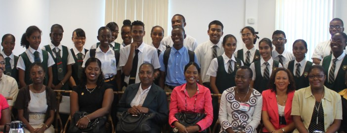 FLASHBACK: Secondary school students and teachers in Guyana with CARICOM Secretariat staff members in 2015