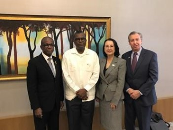 From left: Hugh Riley, CTO secretary general; The Bahamas Minister of Foreign Affairs and Immigration Fred Mitchell; CHTA president Karolin Troubetzkoy; and CHTA CEO and Director General Frank Comito. (Photo via CTO)