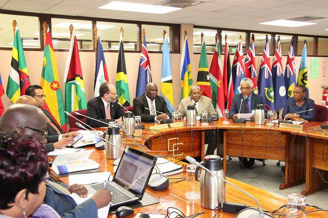(l-r) Secretary General; COHSOD Chairman; ASG HSD Dr. Douglas Slater; Professor Nigel Harris