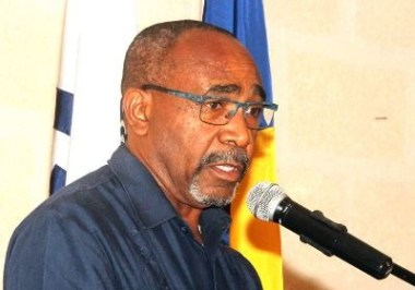 Senator Darcy Boyce, President, Caribbean Telecommunications Union  (Photo by C.Henry via BGIS)